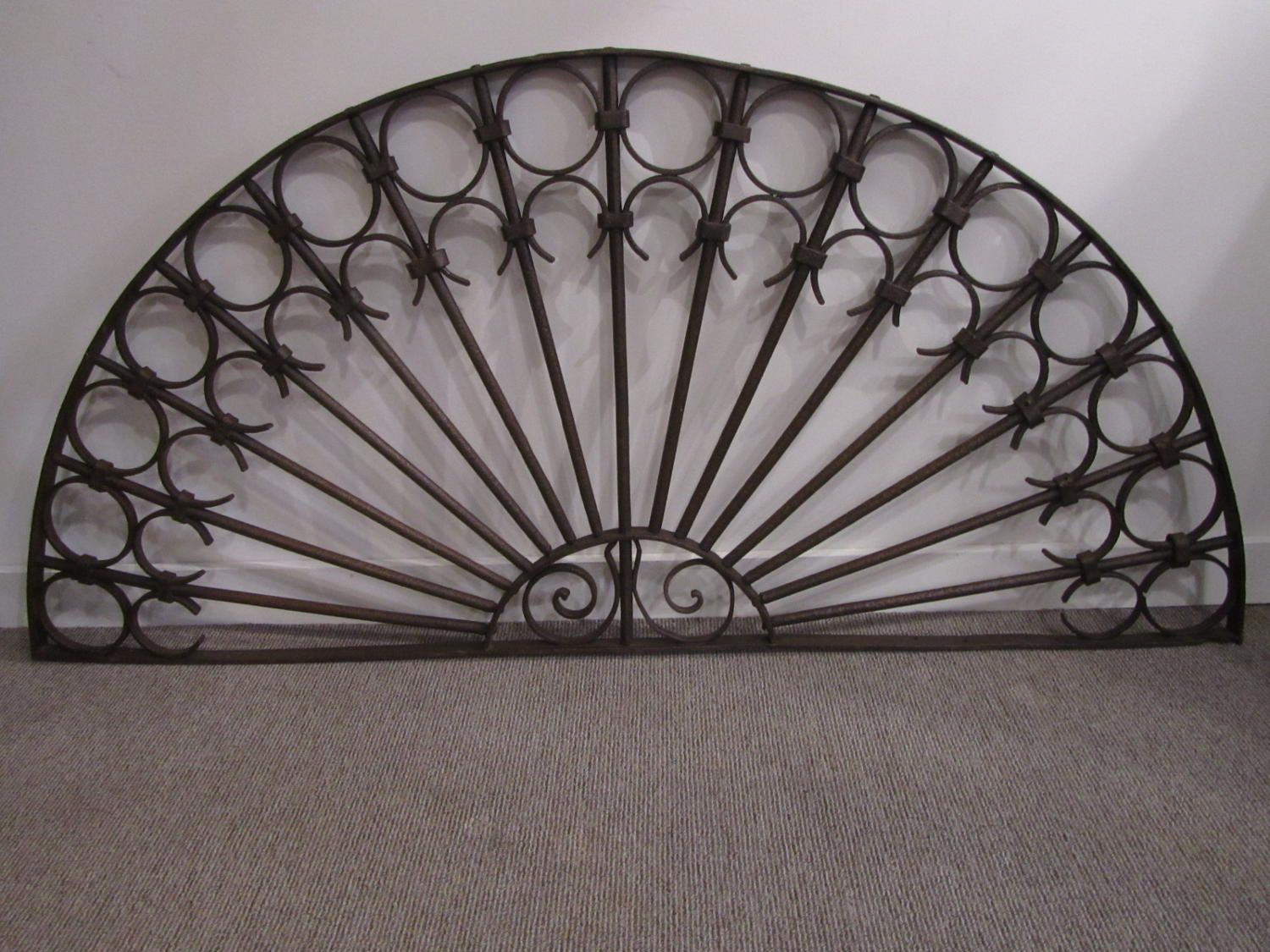 An iron orangery doorway grill