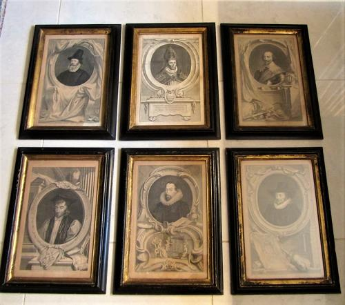 A set of 18thC etchings