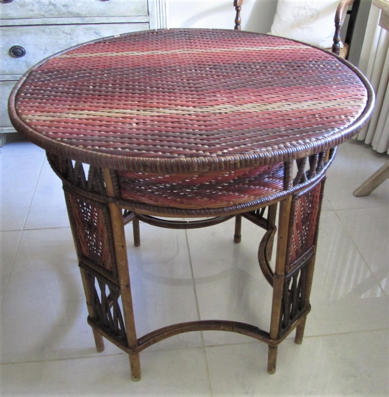 Rattan conservatory table