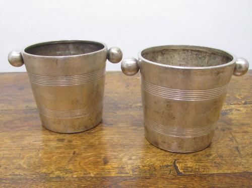 A pair of Savoy Hotel wine coolers