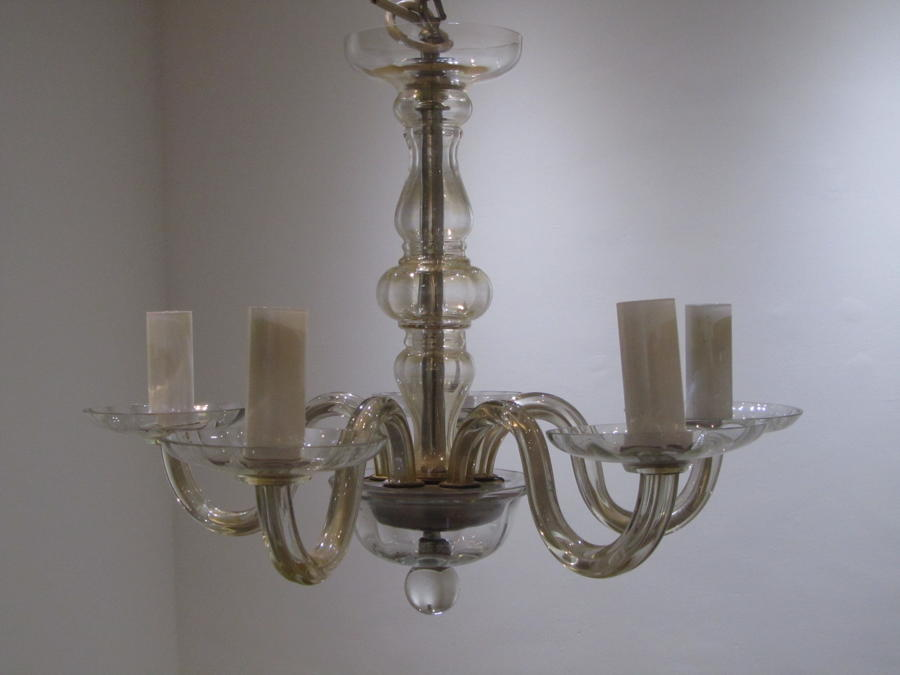 A Murano glass chandelier