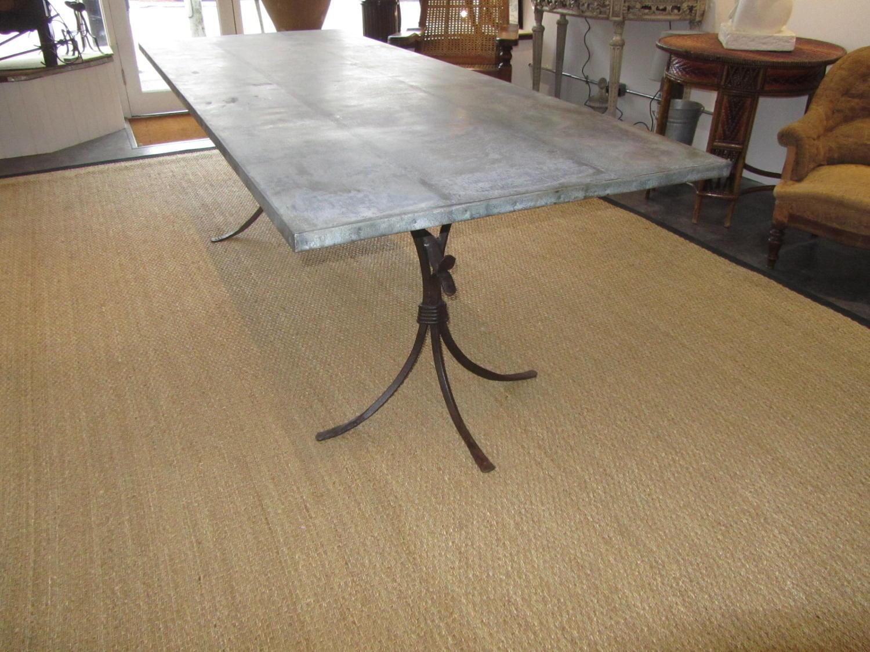 A large zinc top iron terrace table in Furniture : a large zinc top iron terrace table10397pic8size3 from www.marchandantiques.co.uk size 1500 x 1125 jpeg 246kB