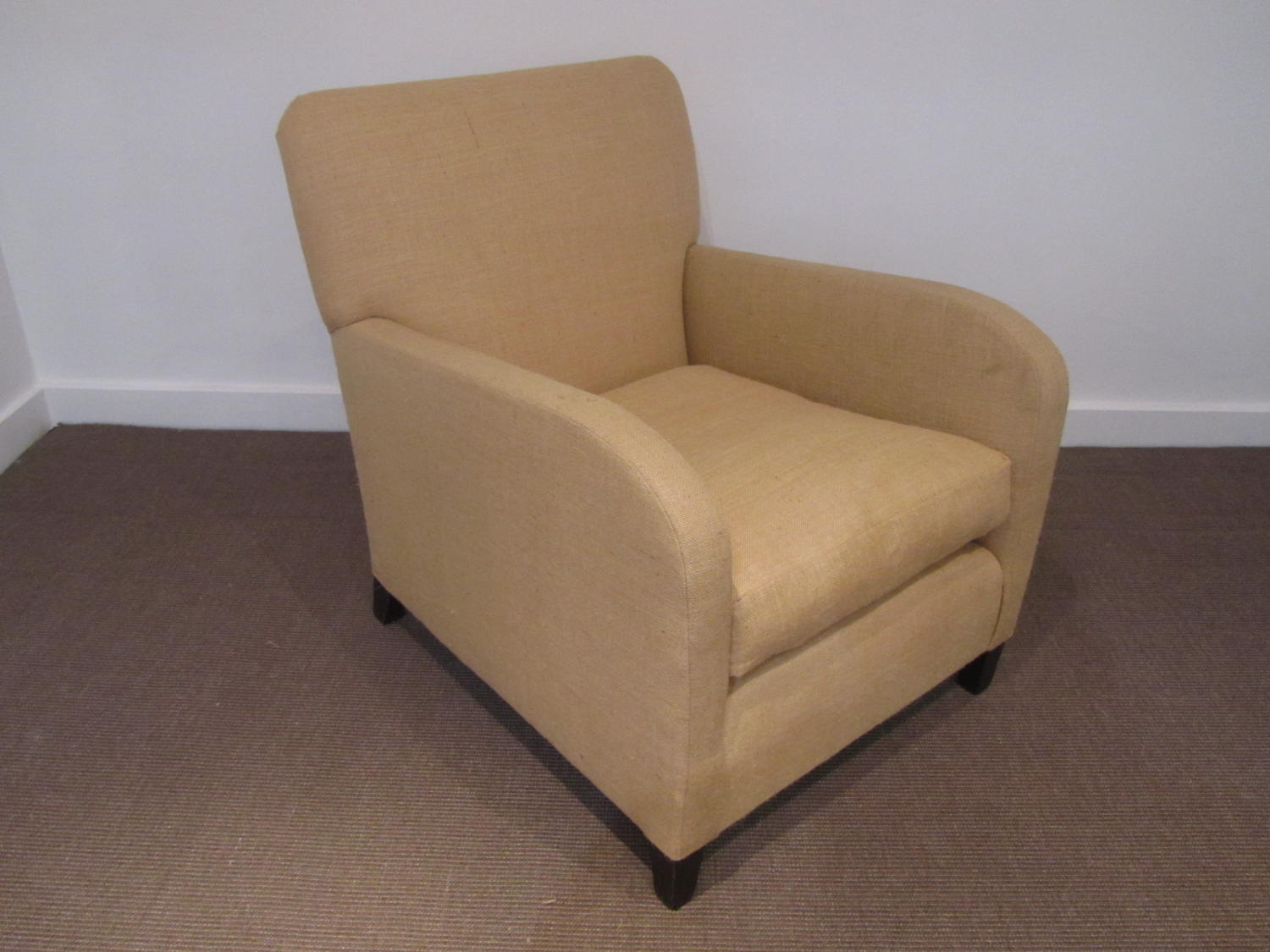 A single English art deco armchair