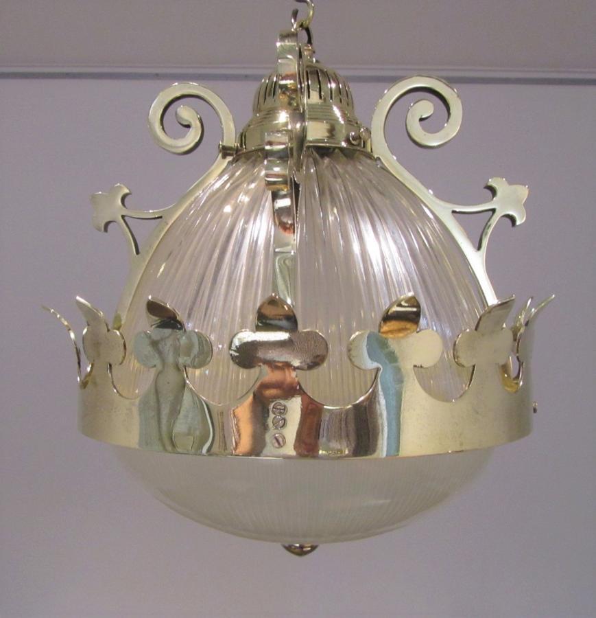 A bronze Holophane lantern