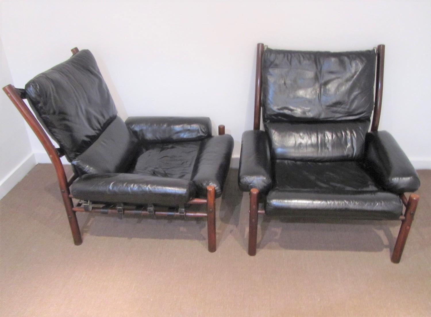 A pair of Arne Norell  Inca chairs