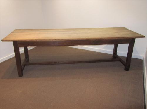 A large farmhouse table