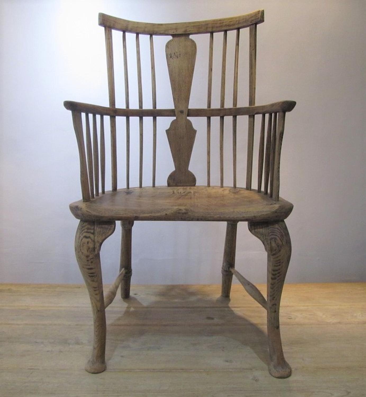 An Oak and Elm Windsor chair