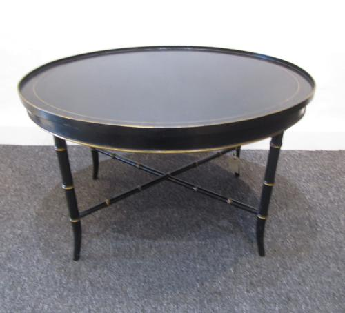 An Oval faux bamboo occasional table