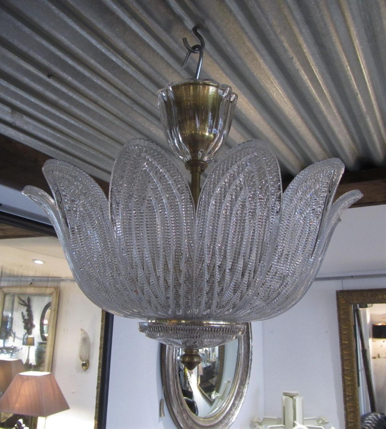 An Orrefors crystal chandelier