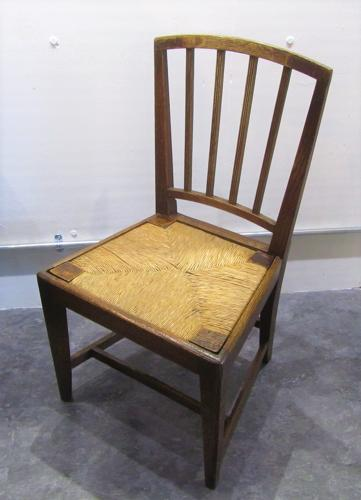A set of six provincial dining chairs