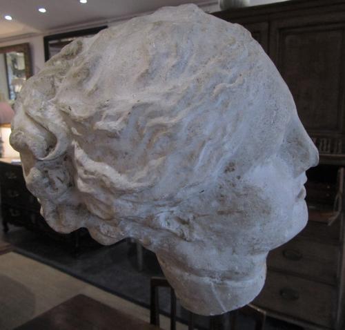 A 19thC plaster bust