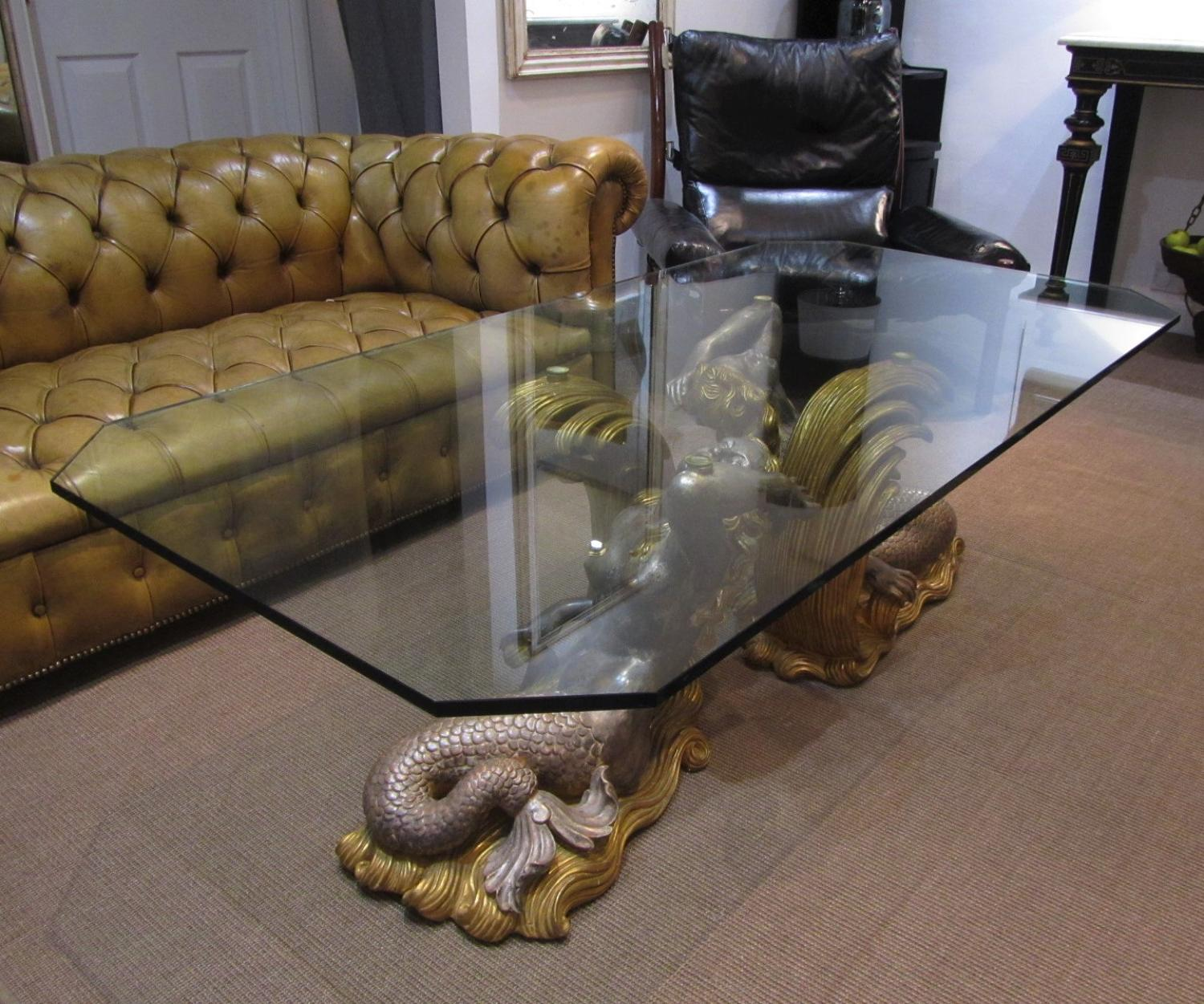 A mid century mermaid coffee table