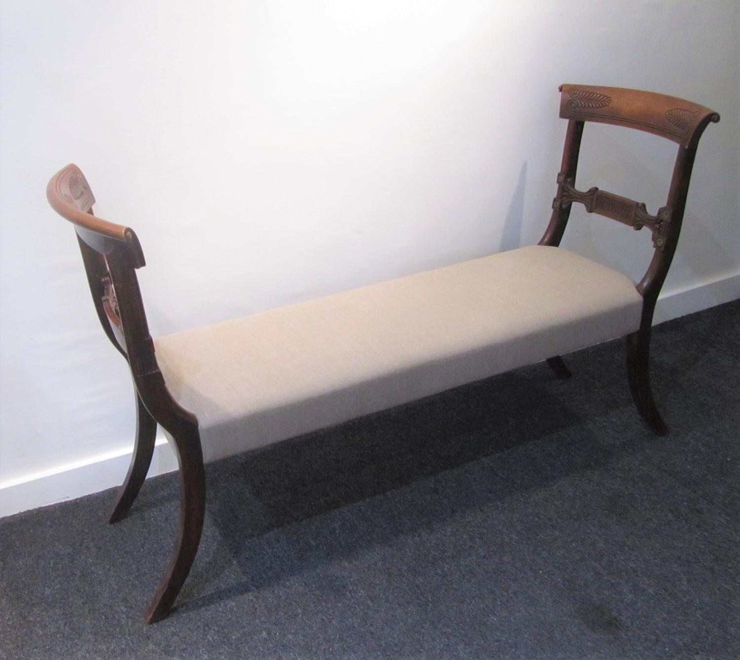 A regency and later window seat