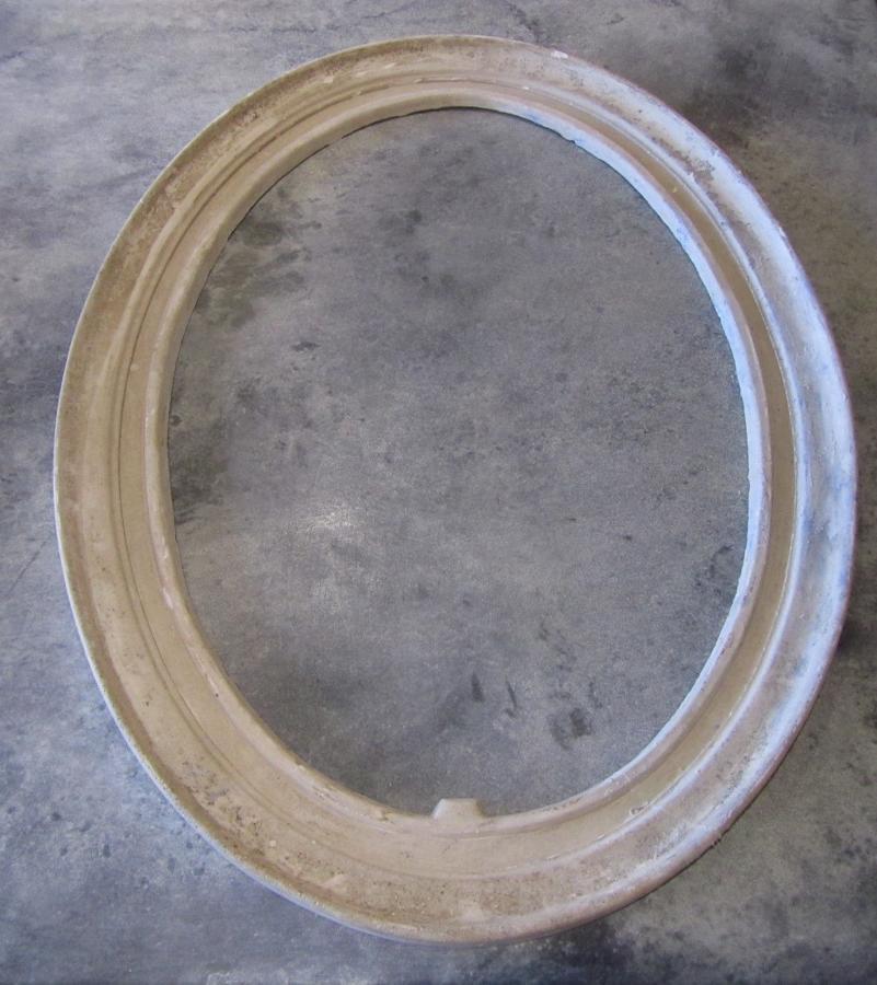 A set of four assorted plaster frames