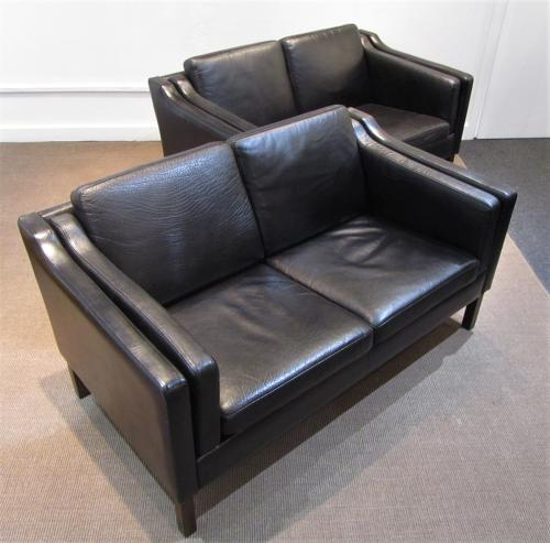 A pair of Danish Leather sofas