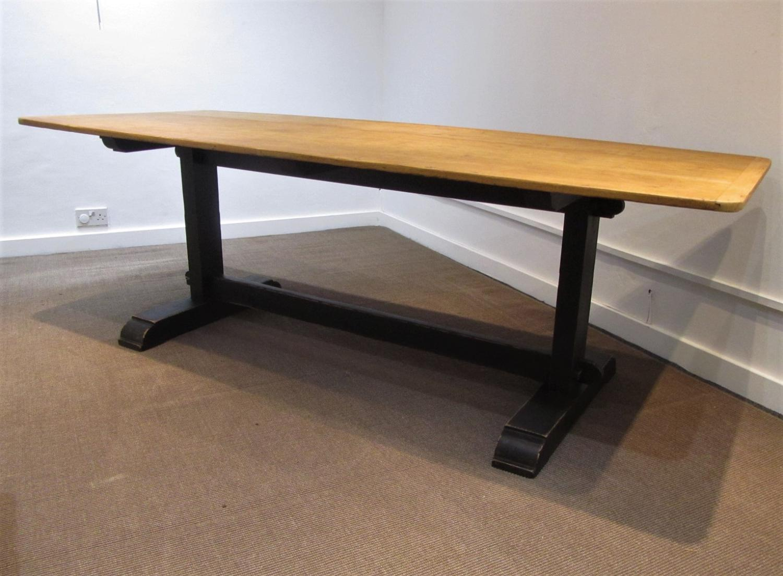A school refectory table