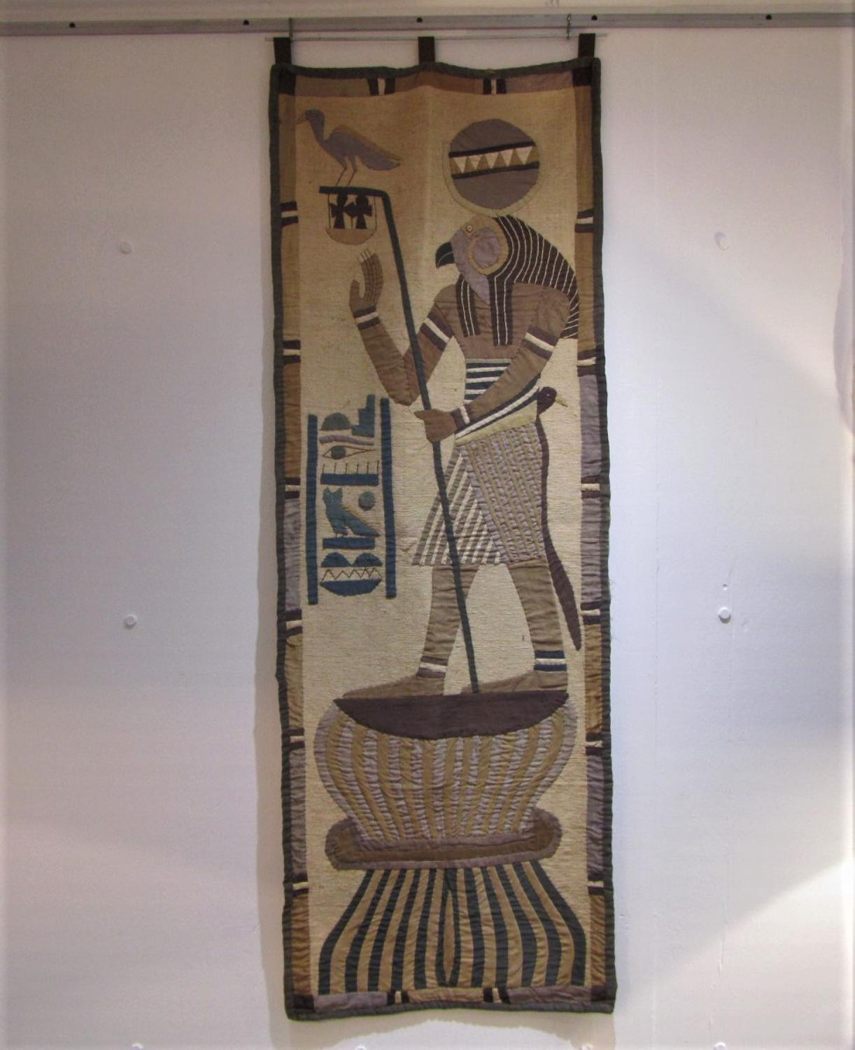 A pair of Egyptian wall hangings