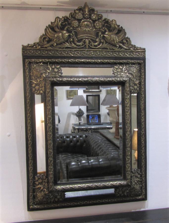 A dutch baroque repoussee mirror
