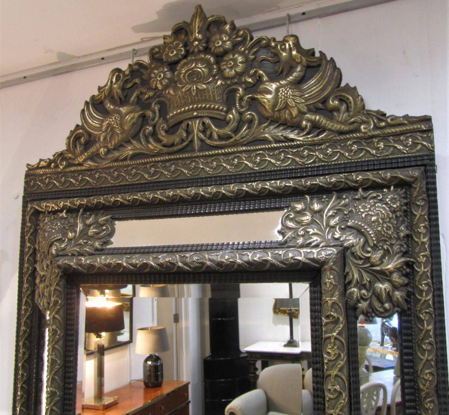 A dutch baroque repoussee mirror in mirrors for Dutch baroque architecture