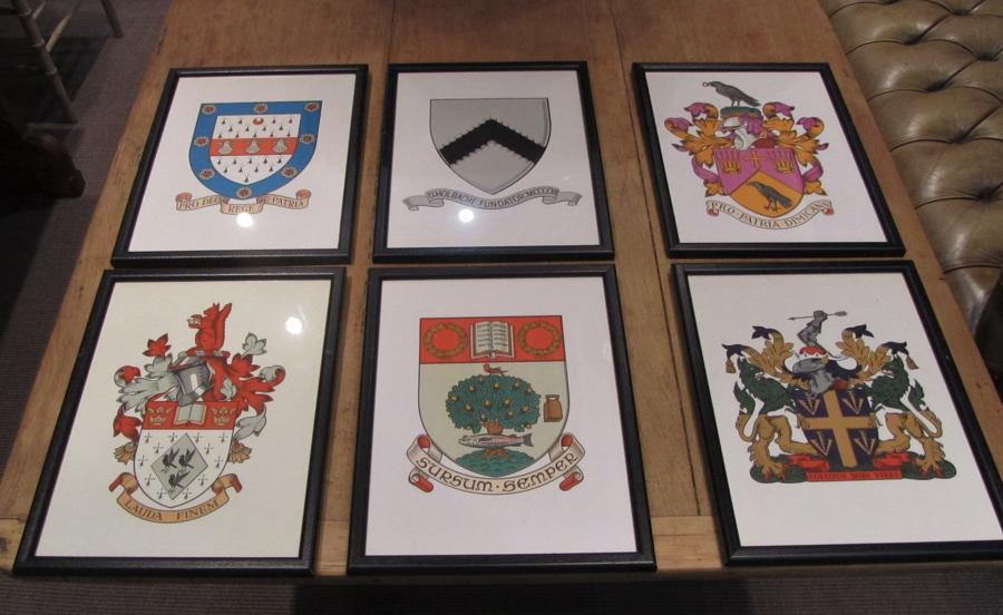 A set of 18 Public Schools Arms and crests
