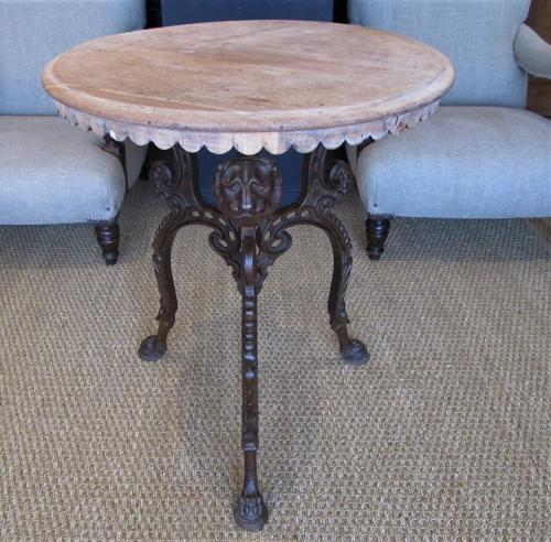 A 19thC cast iron  tavern table