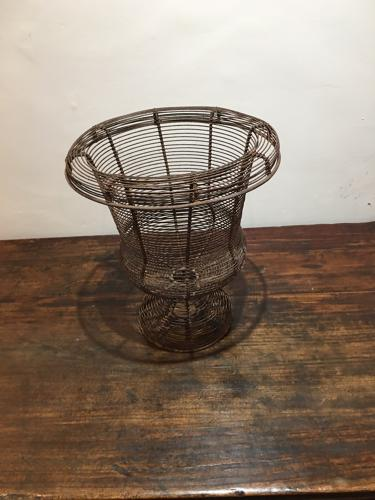 An early 20thC wire work basket