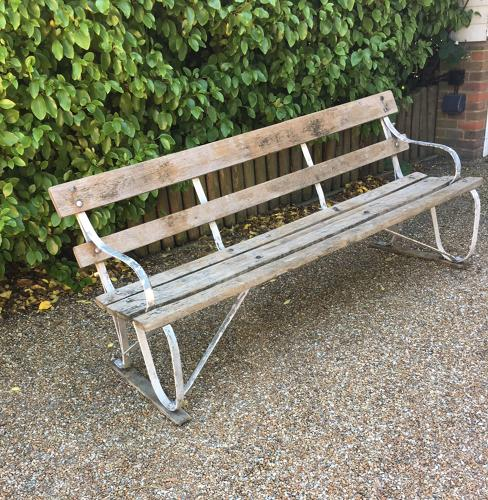 An Early 20thC Railway station Bench