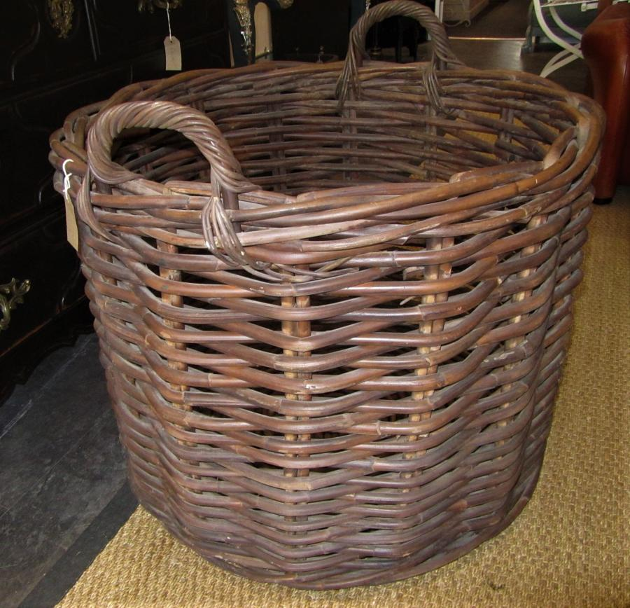 A very large country house log basket