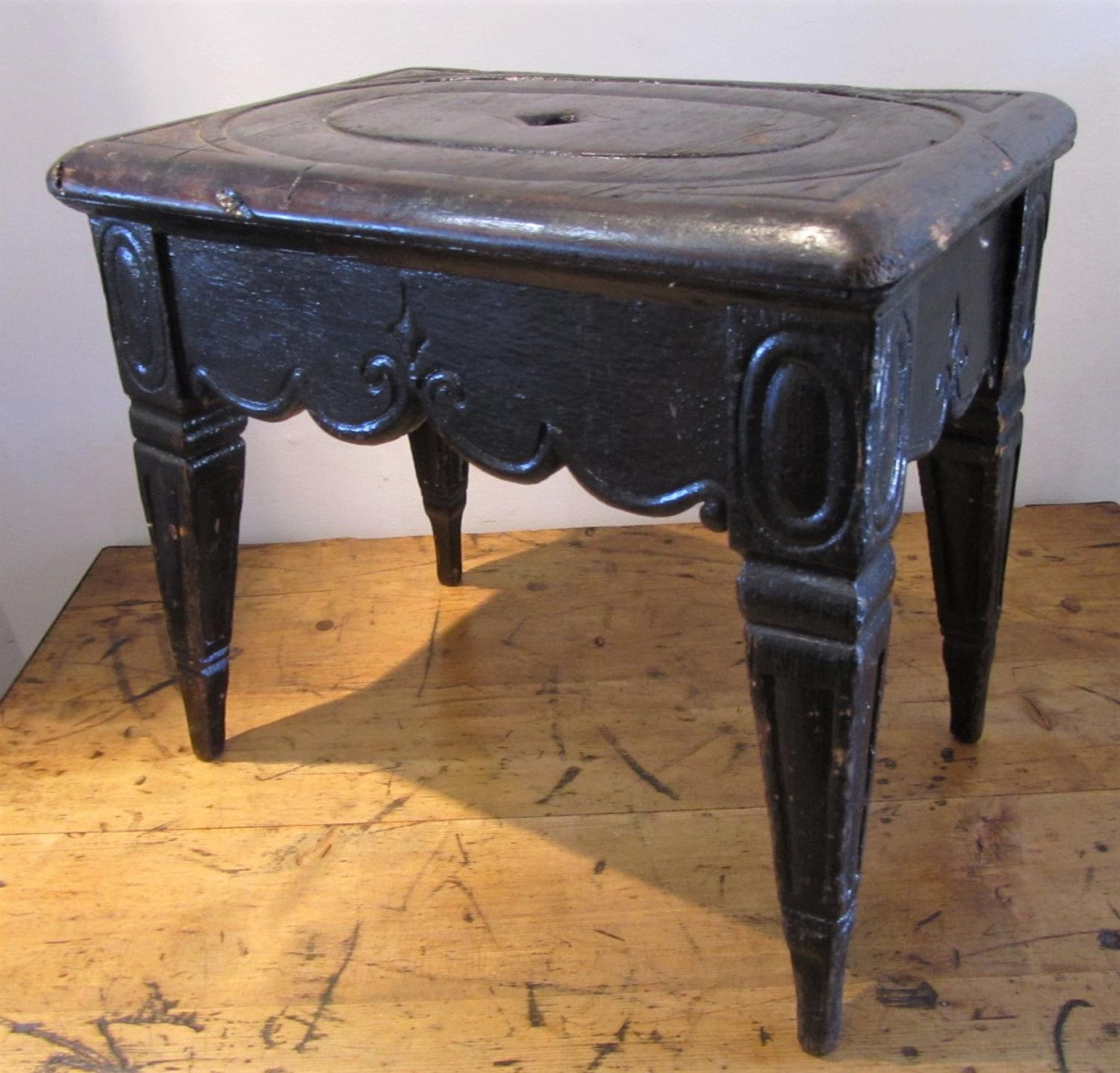 A naive folk art stool