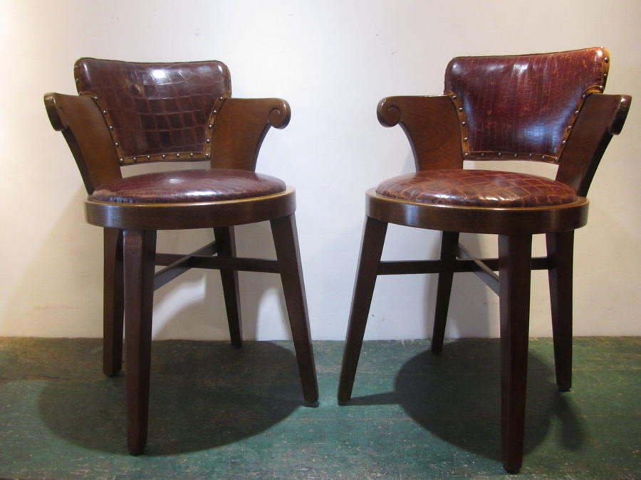 A set of two bridge chairs