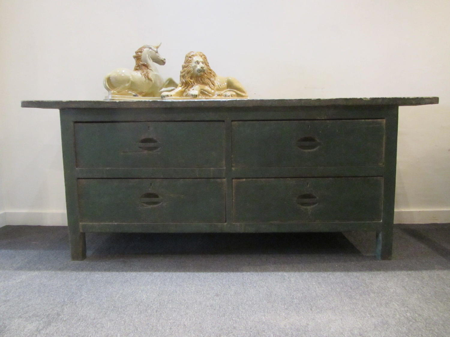 A large blacksmiths forge four drawer chest