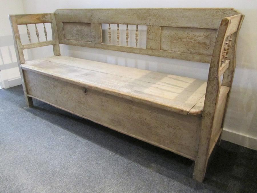 A Scandinavian bench with storage