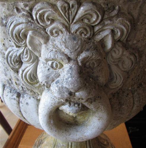 A large mid century single garden urn