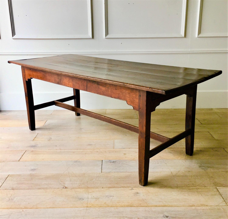 An 18thC Oak farmhouse table