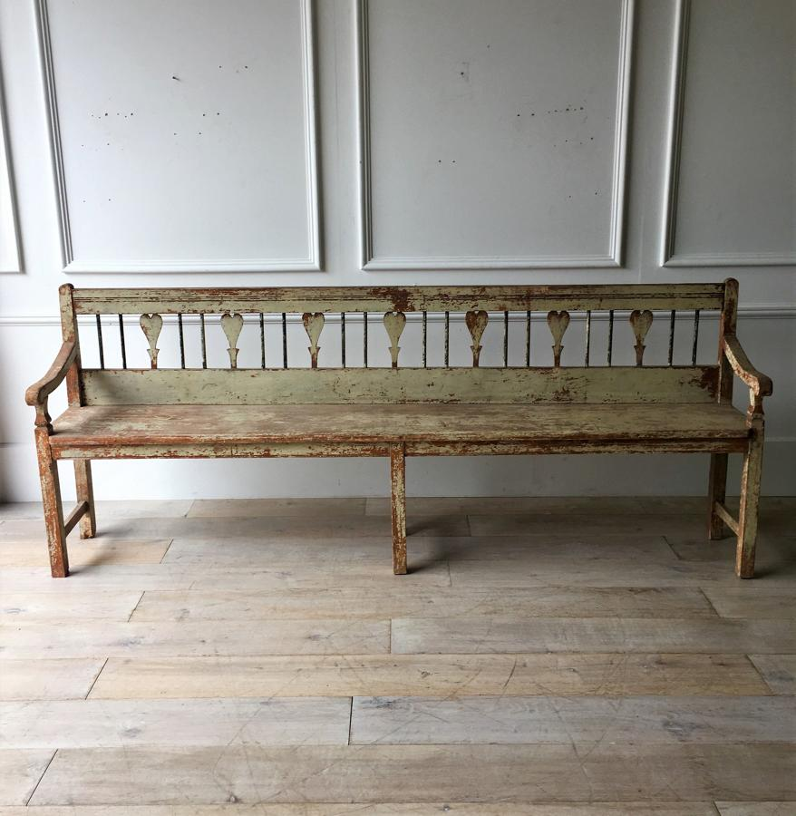 A painted Scandinavian bench