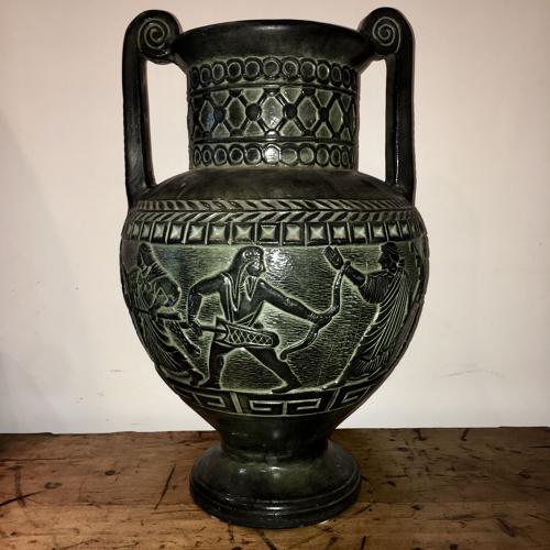 A mid century ceramic volute krater vase