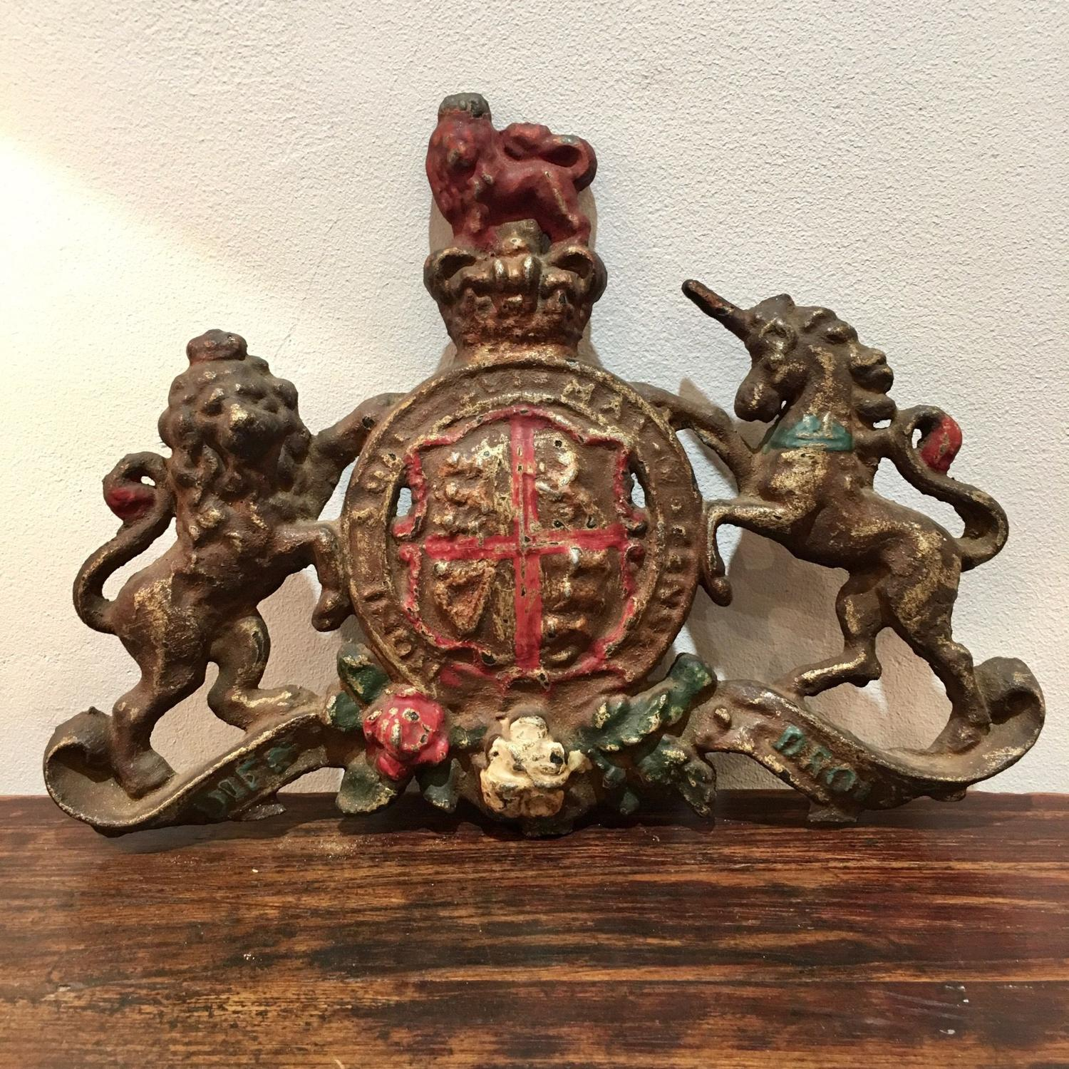 A cast iron coat of arms
