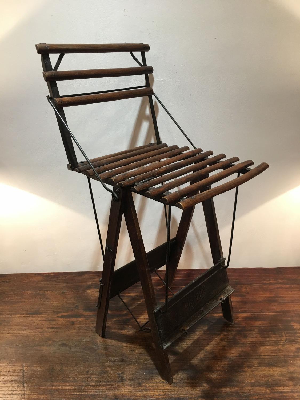 A folding Artists chair