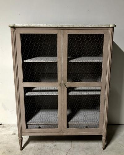 A painted vitrine cabinet