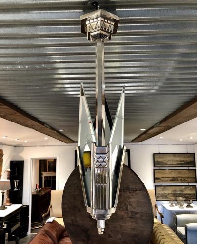 An Art Deco Ceiling Light