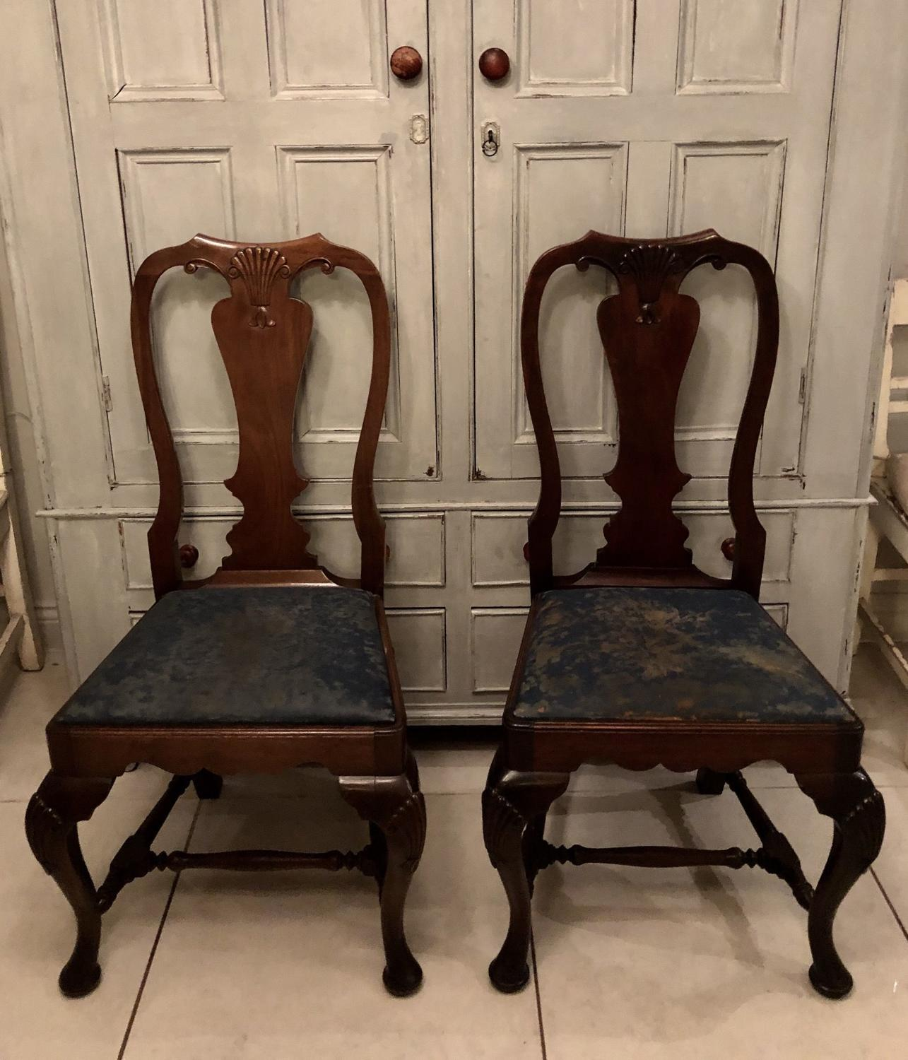 A pair of Irish side chairs