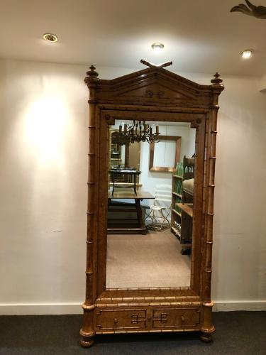 A Faux Bamboo armoire