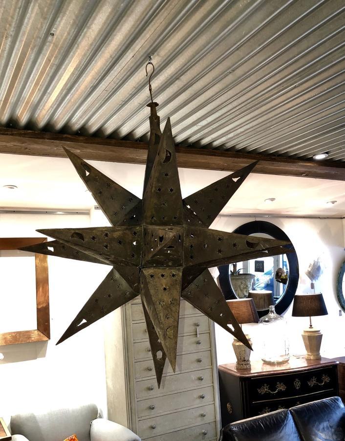 A large Moravian star lantern