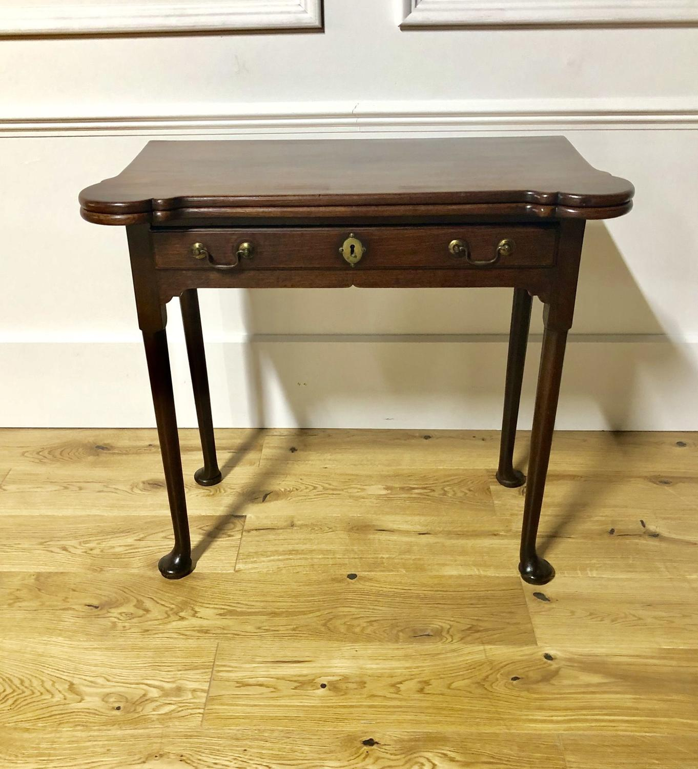 An 18thC games/sofa table