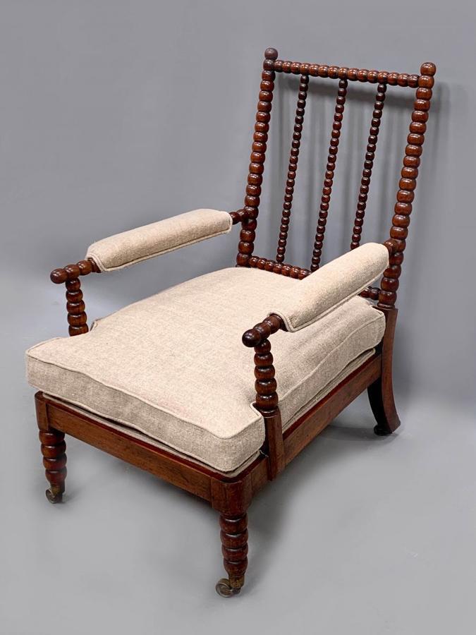 A Mahogany bobbin turned chair