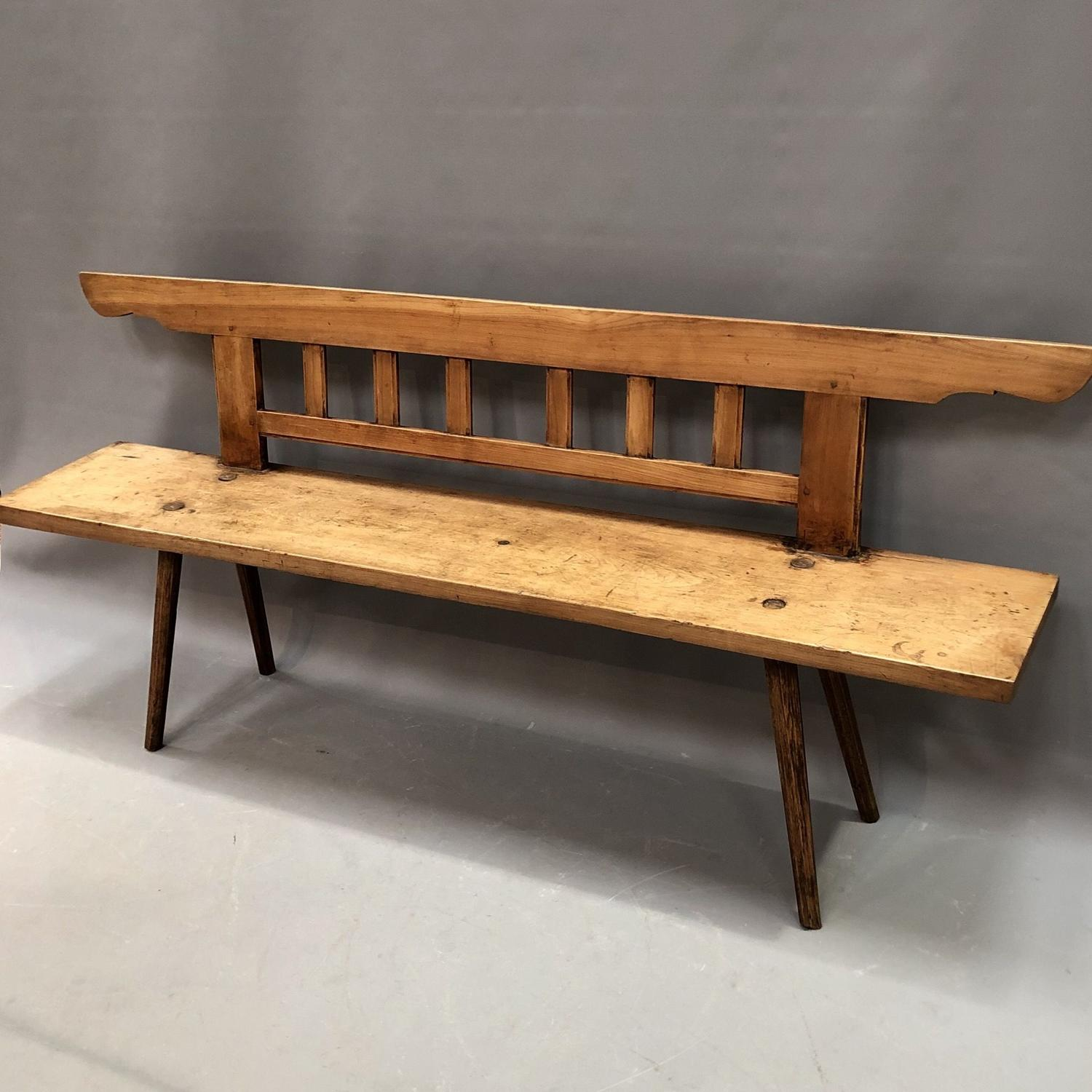 A Spanish Pine bench