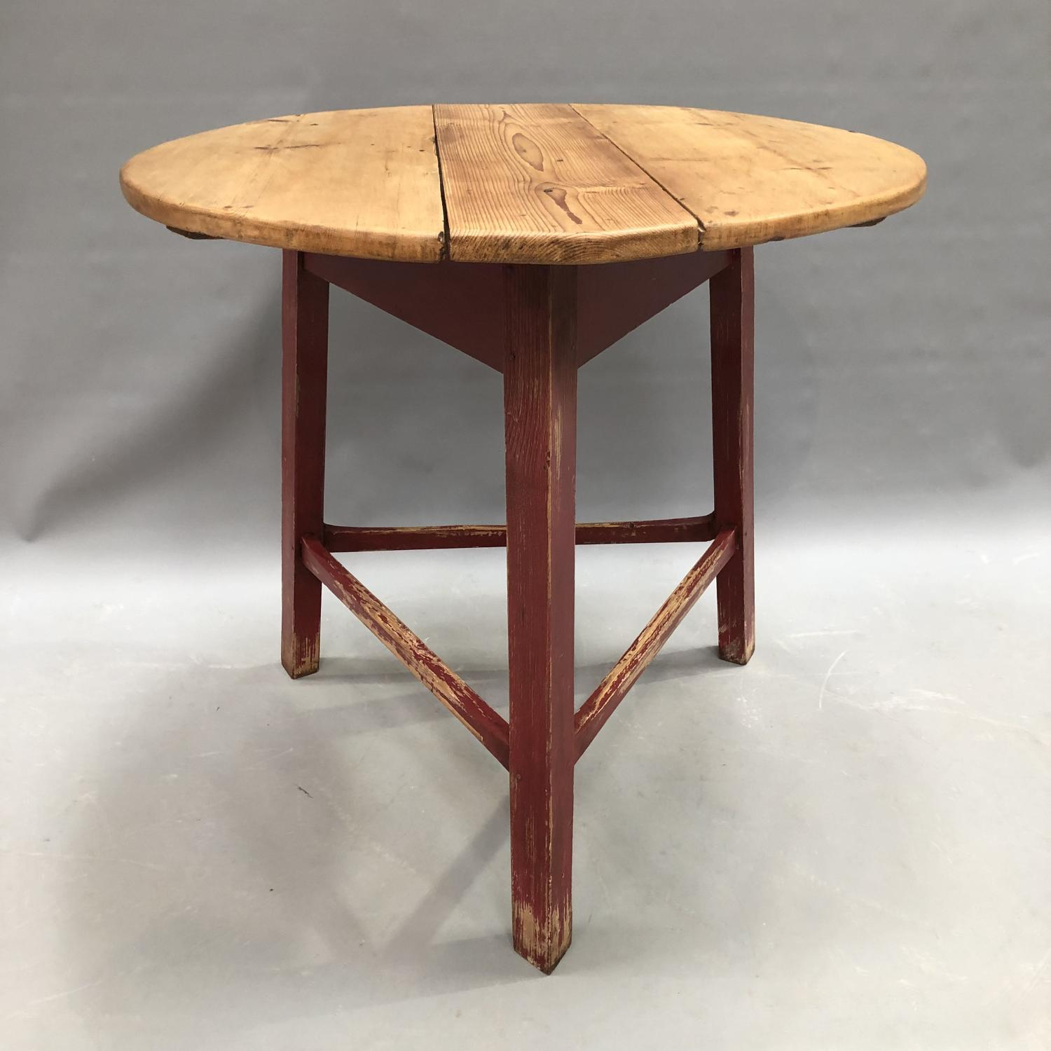 A painted pine cricket table