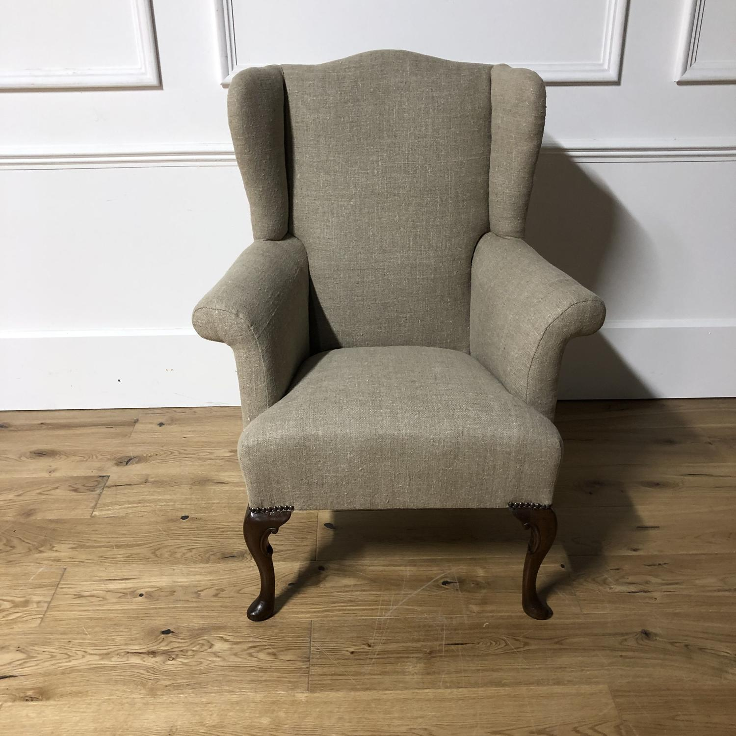 An Edwardian Wing Armchair