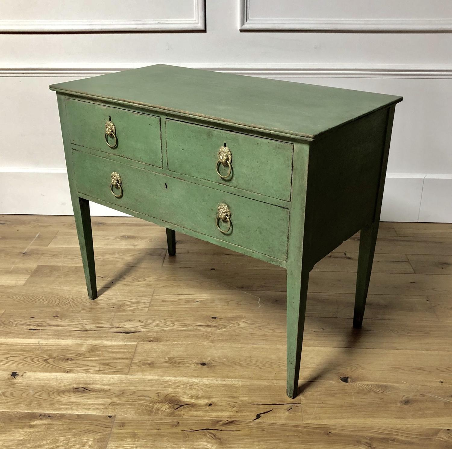 A 19thC Painted Lowboy chest