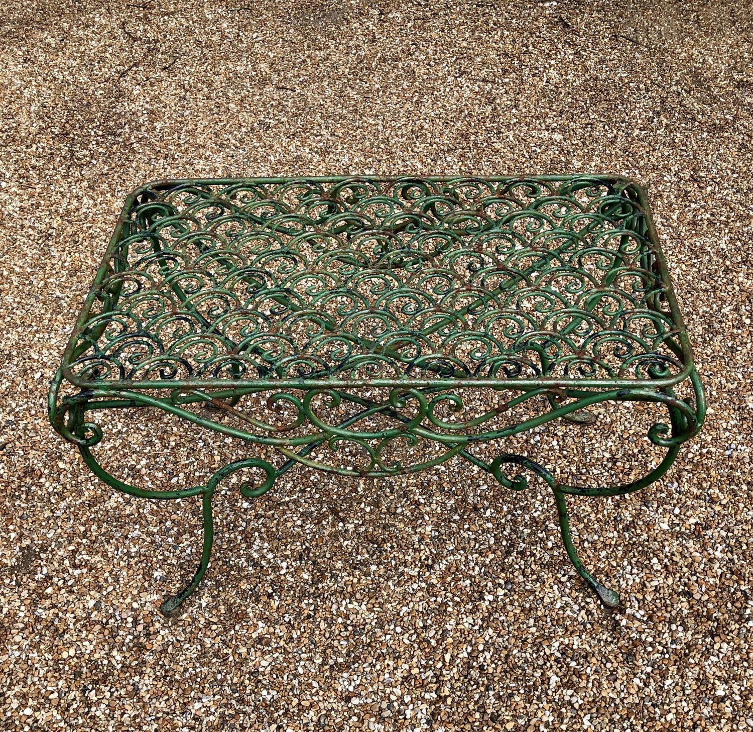 A Wrought Iron low table